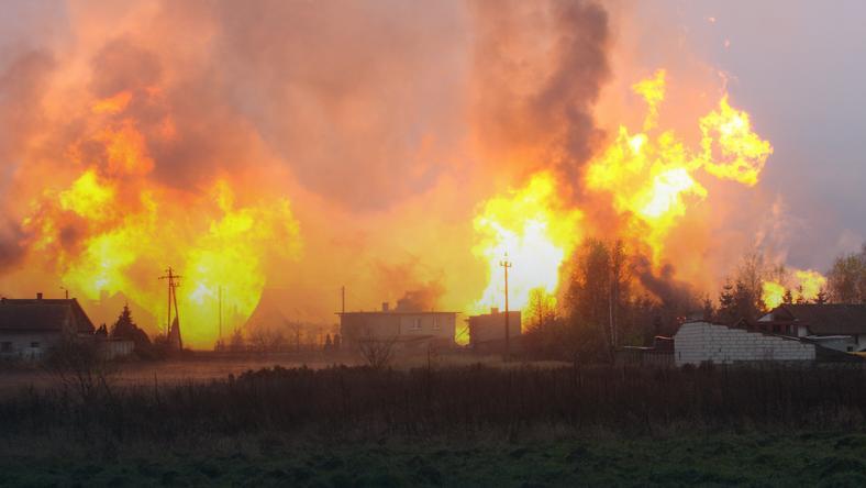 Pożar w Jankowie Przygodzkim, fot. PAP