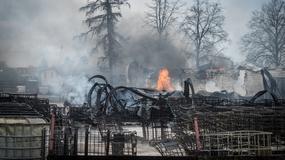 Pożar fabryki w Młodzieszynie koło Sochaczewa