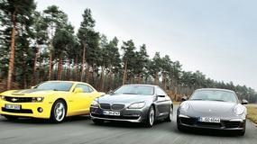 Chevrolet Camaro kontra BMW 650i i Porsche 911 Carrera S: mocne obiekty pożądania