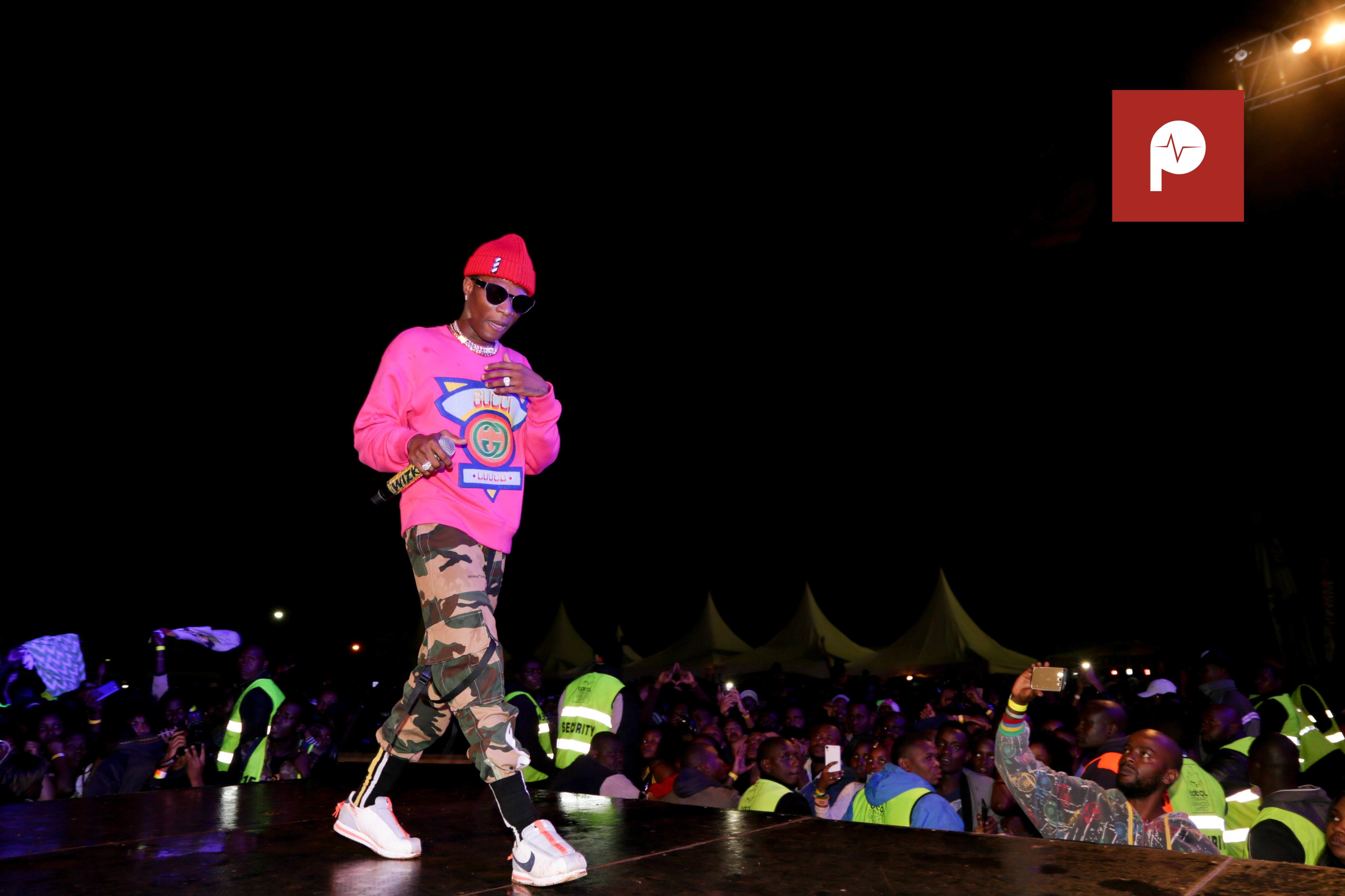 How Wizkid's concert went down in Nakuru