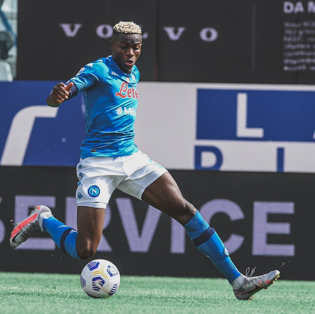 Victor Osimhen has already made two competitive appearances for Napoli (Twitter/Victor Osimhen)