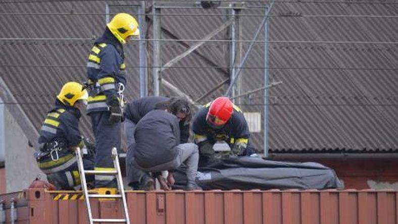 Szénné égett a szabadkai vasútállomáson egy migráns férfi / Fotó: Magyar Szó - Molnár Edvárd