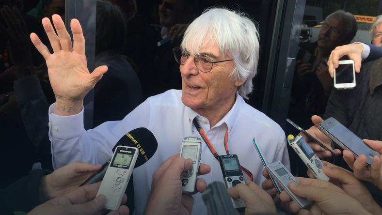 Bernie Ecclestone rzadko rozmawia z mediami, ale w kryzysowej sytuacji w końcu porozmawiał z dziennikarzami., fot. www.facebook.com/cezarygutowskiofficial