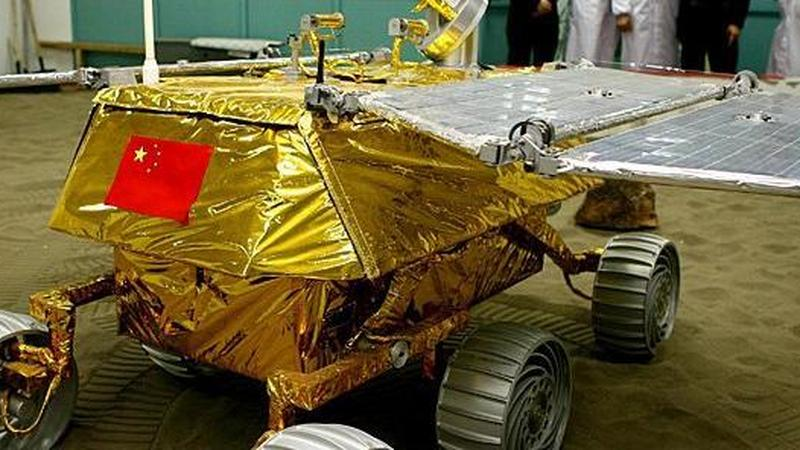 Chiński łazik księżycowy z Chang'e-3