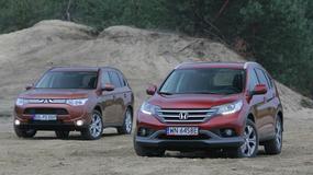 Mitsubishi Outlander kontra Honda CR-V: SUV-y bez zbędnych fajerwerków
