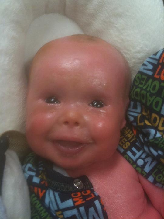 Evan születése óta egy rendkívül vidám kislegény / Fotó: Northfoto