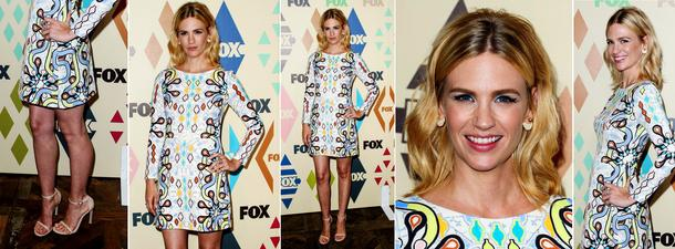 Best Look: January Jones we wzorzystej mini Petera Pilotto