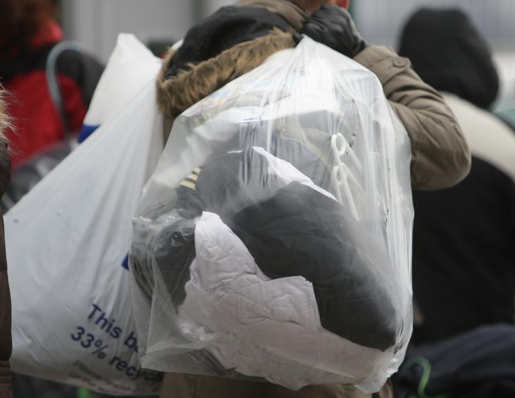 Zsákokban az egyenruhák / Fotó: RAS ARCHIV