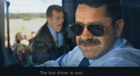 """Ne samo da je autobus blistavo čist, već je i vozač """"kul""""..."""