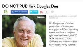 """Kirk Douglas uśmiercony przez magazyn """"People"""""""