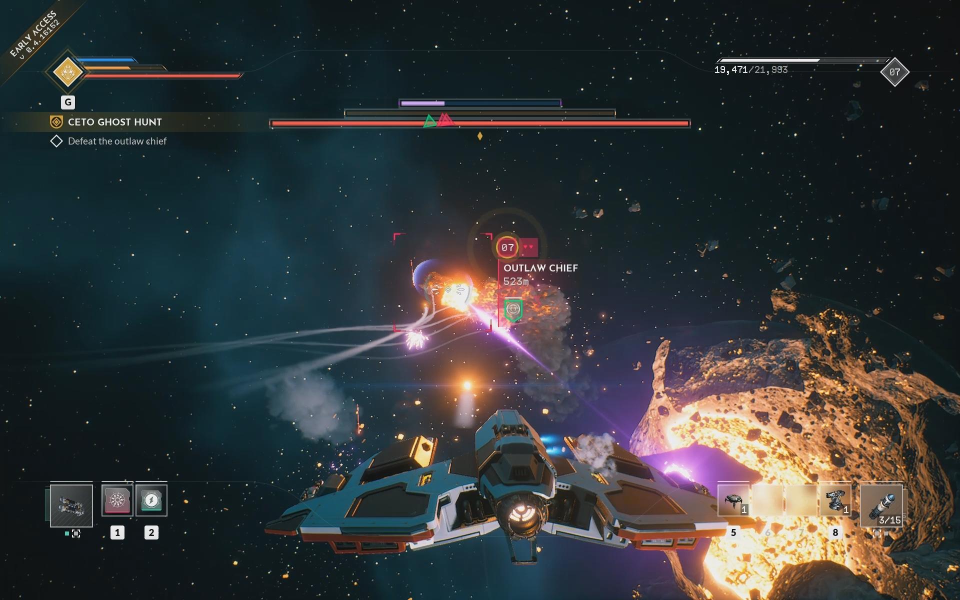 Vesmírne bitky sú extrémne svižné a plné vizuálnych efektov.