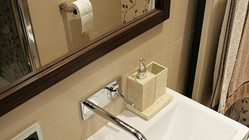 Dwukolorowa łazienka