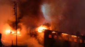 Poznań: pożar zabytkowego młyna na Nadolniku
