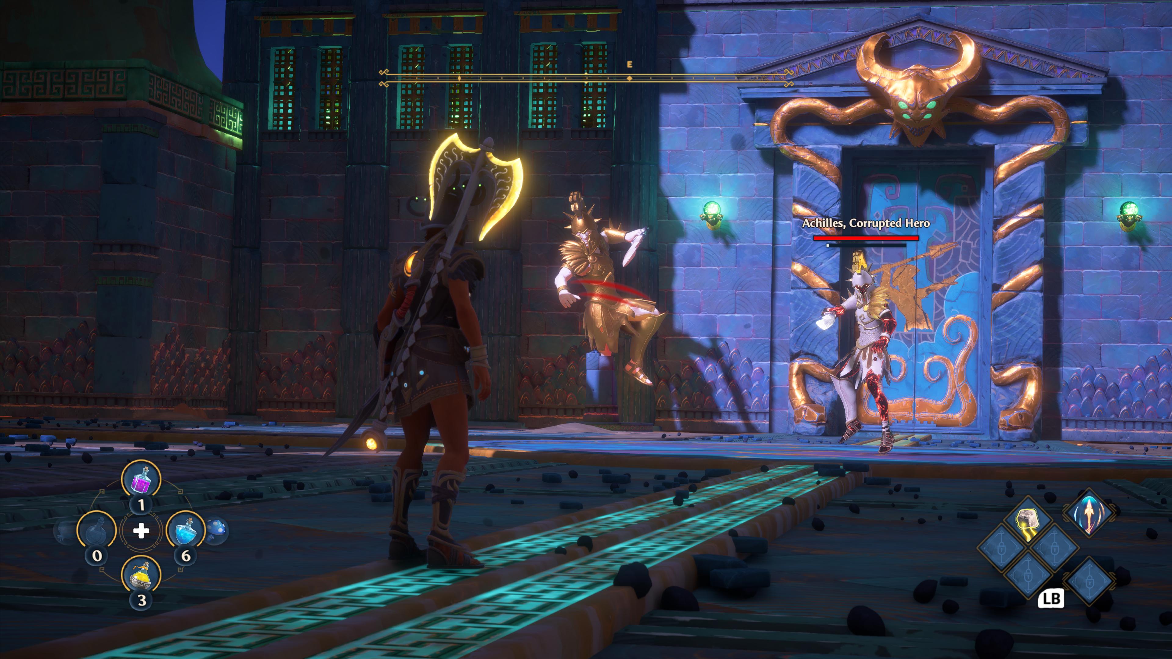 Achilles je jedným z prvých bossov, ktorý preverí tvoje bojové zručnosti.