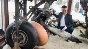 Ekspozycja wydobytego po 70 latach z Bzury wraku samolotu Pe-2