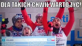 Polscy skoczkowie drużynowymi mistrzami świata - memy