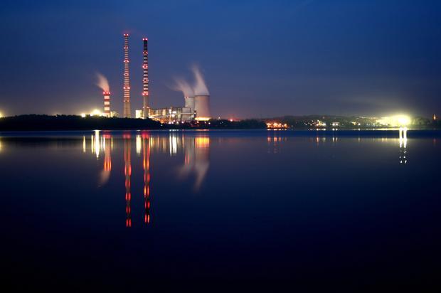 Rybnik, zalew i elektrownia