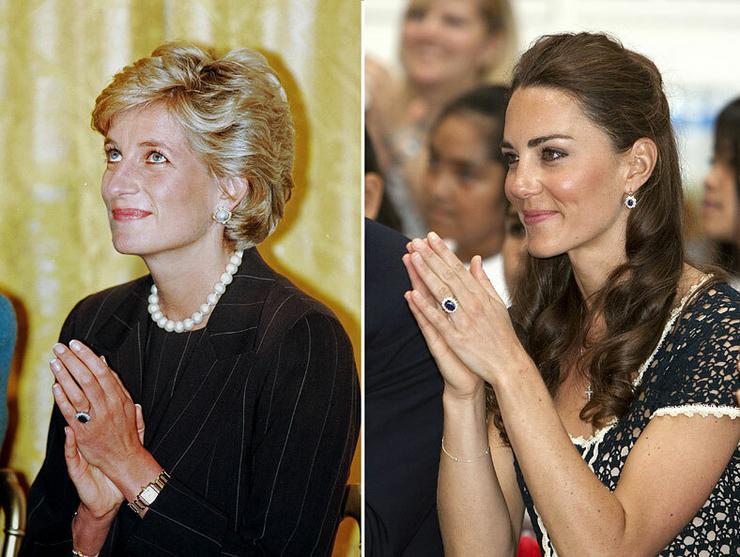Katalin hercegné pont olyan boldogan viseli a gyűrűt, mint egykor Diana hercengő.