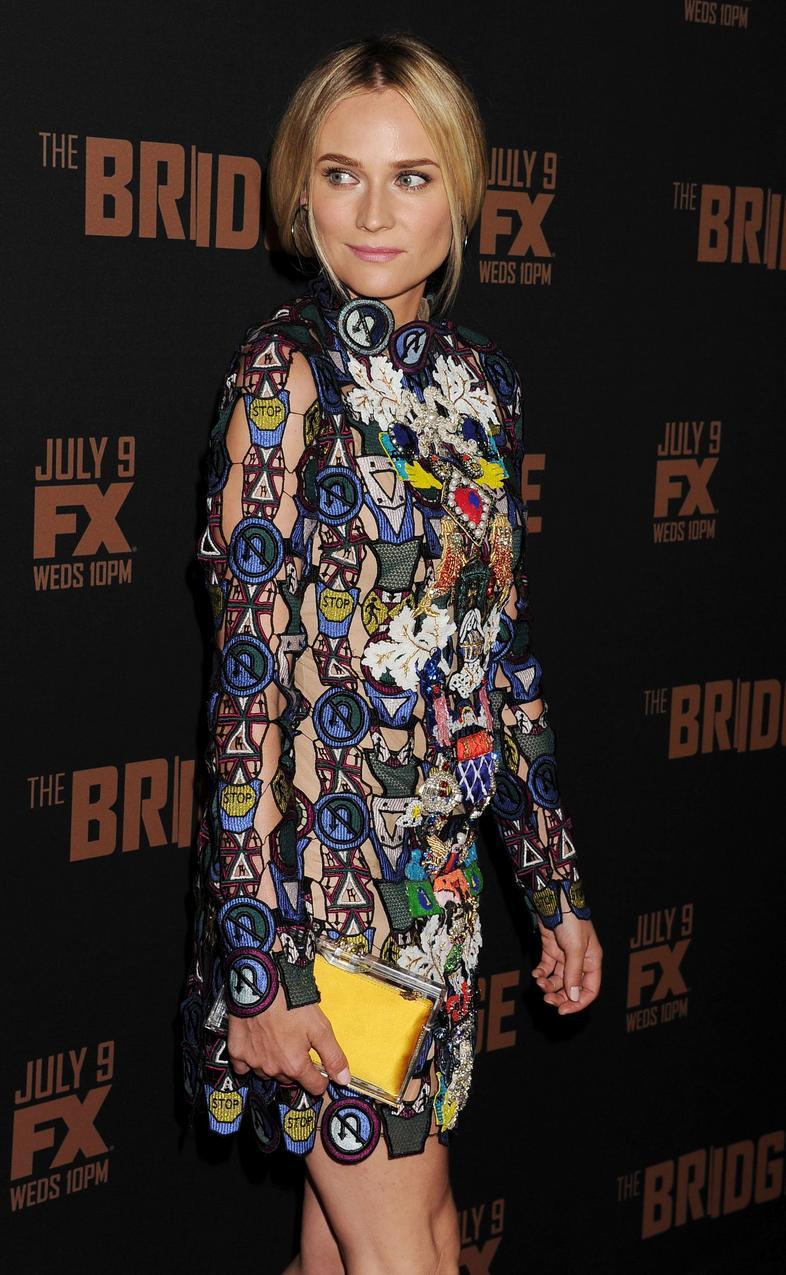 Diane Kruger w sukience Mary Katrantzou / fot. Bulls Press
