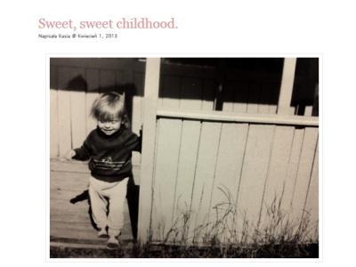 Kasia Tusk w dzieciństwie