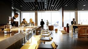 Lounge klasy pierwszej Lufthansy na lotnisku we Frankfurcie