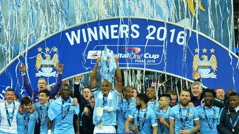 Manchester City nyerte a Ligakupát /Fotó: AFP