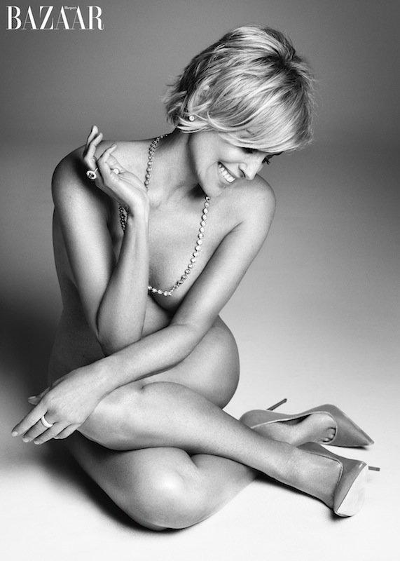 Kompletnie naga Sharon Stone w Harper's Bazaar
