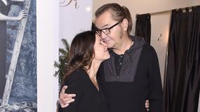 Robert Gawliński z żoną w butiku Teresy Rosati