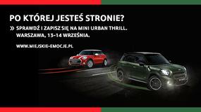 Impreza MINI Urban Thrill już w weekend w Warszawie