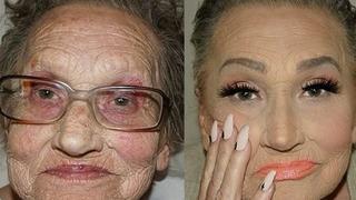 Niezwykła metamorfoza 80-letniej kobiety. Ten makijaż bardzo ją odmładza