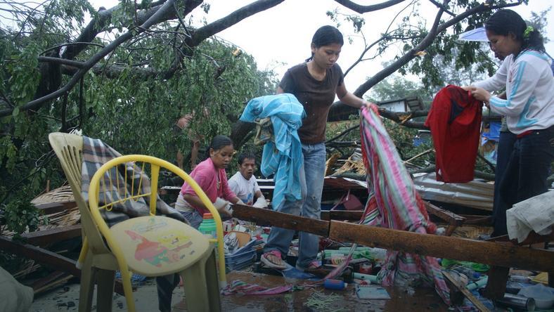 Tajfun na Filipinach, fot. AFP