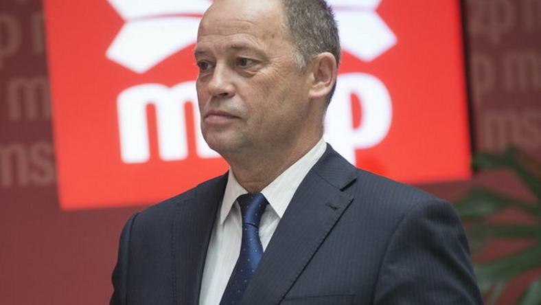 Szanyi Tibor szerint a jelenlegi elnökséggel csak veszteni lehet / Fotó: MTI - Kallos Bea