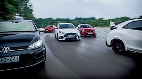 Focus RS vs 308 GTi vs Leon Cupra vs Golf R vs Civic Type R