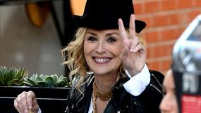 "Sharon Stone na planie ""A Little Something For Your Birthday"""