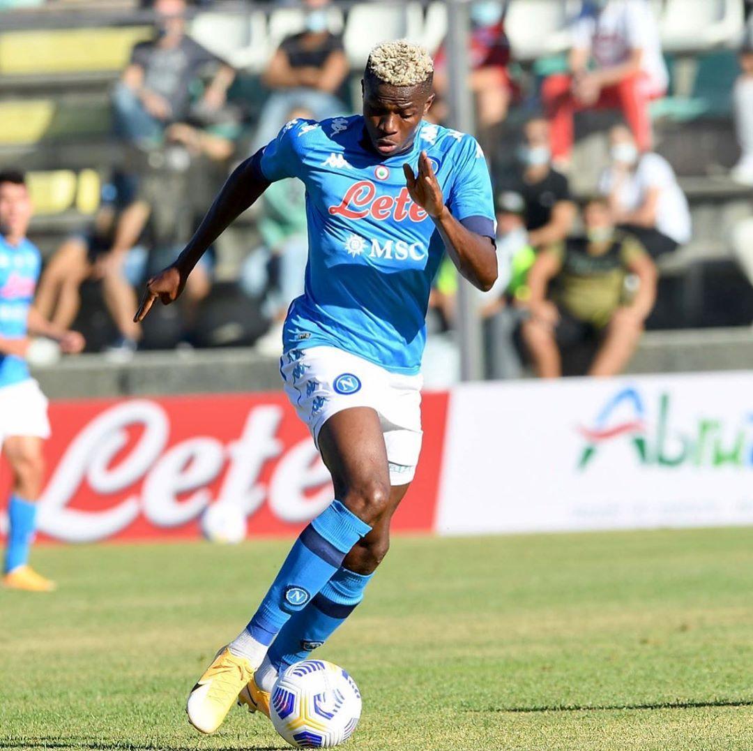 Victor Osimhen scored six goals for Napoli in pre-season (Napoli/Instagram)