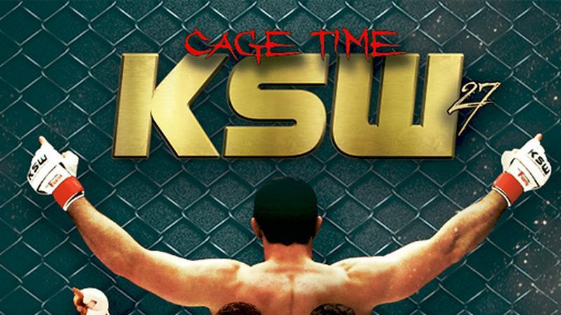 "Plakat gali KSW27 ""Cage Time"""