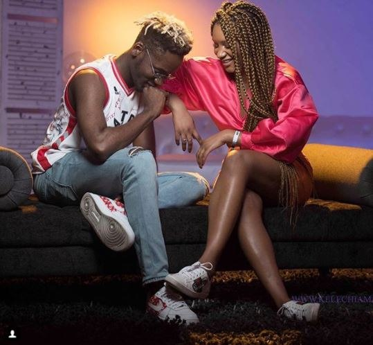 3b8e89e8216987c8e103d8dbf7d9f668 - Watch cute video of Mr Eazi and Temi Oteodola dancing