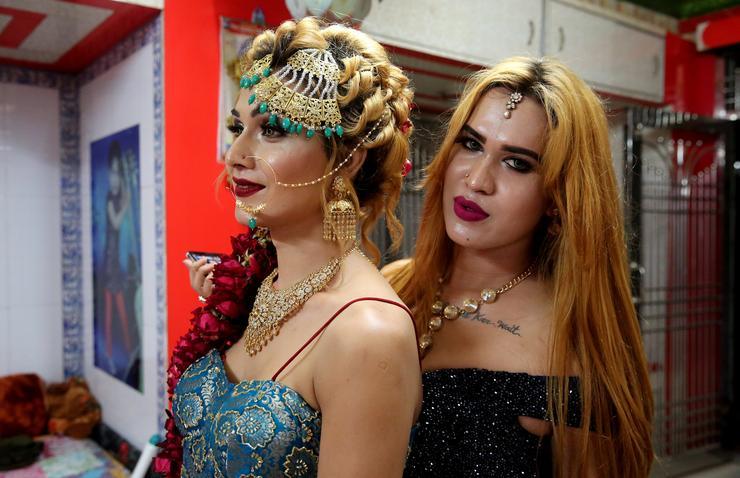 Hatalmas ünnepséget csaptak a hidzsrák a Bhujaria fesztivál alkalmából /Fotó: MTI/EPA -SANJEEV GUPTA