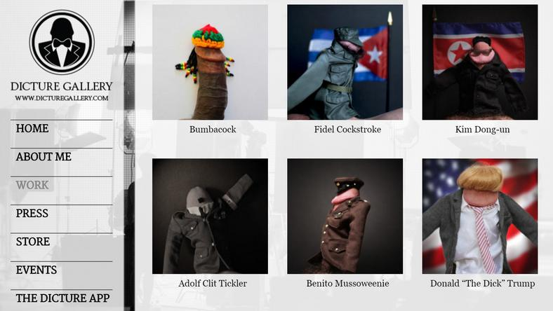 Péniszekké váltak a diktátorok is /Fotó: dicturegallery.com