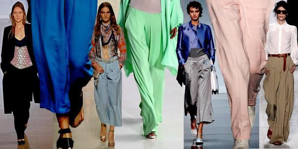 0a0fcbe8f118f8 Wiosna/lato 2014: Duże szerokie spodnie