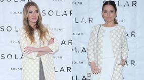 Sykut i Zawadzka w takim samym płaszczu na prezentacji odzieżowej marki