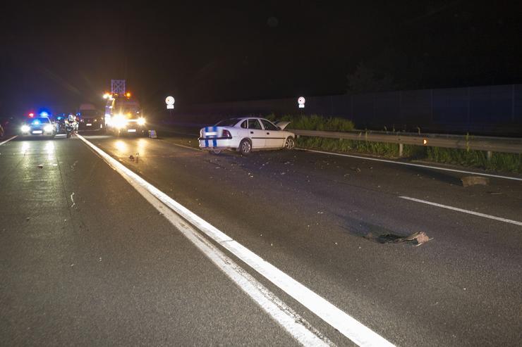 Halálos baleset az M3-ason /Fotó: Blikk