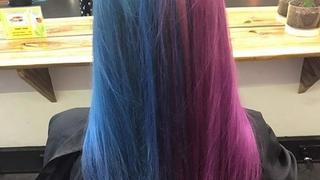 Neonowe włosy: magiczny sposób na dwa kolory