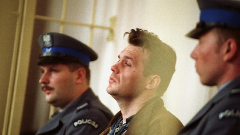 Krzysztof Gawlik na sali sądowej