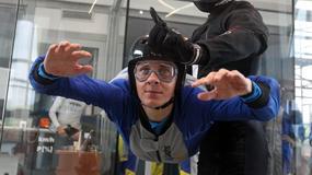 Kadra skoczków na treningu w tunelu aerodynamicznym