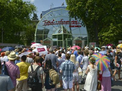 Protest słuchaczy przed siedzibą radiowej Trójki