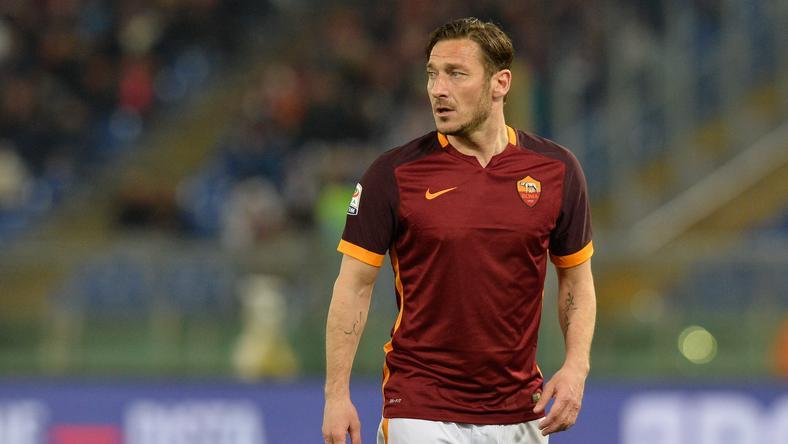 Francesco Totti utoljára lépett pályára a BL-ben / Fotó: AFP