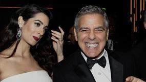 George Clooney z ciężarną partnerką na gali. Widać już ciążowe krągłości!
