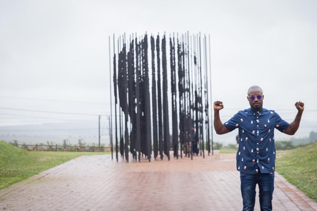 Eugene at Mandela Capture Site