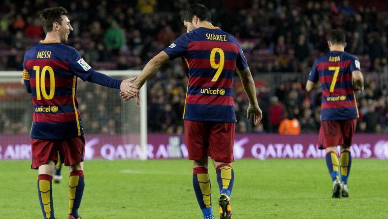 Neymar büntetőt hibázott, Messi és Suárez hetet rúgott /Fotó: AFP